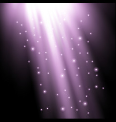 Rays of light with sparkles vector