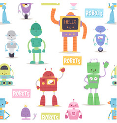 robots and transformer androids cartoon toys vector image