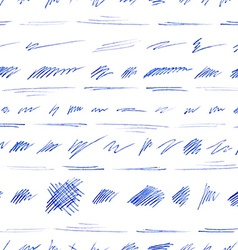 Seamless pattern of hand-drawn pen strokes and vector