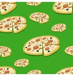 Seamless pattern pizza vector image
