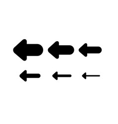 Set arrows and directions signs back or left vector