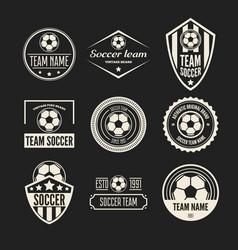 set football or soccer club logo set vector image