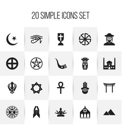 set of 20 editable dyne icons includes symbols vector image