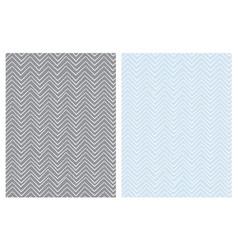 set of seamless cute chevron patterns vector image