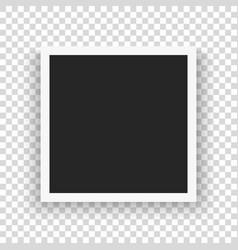 Set template retro frame photo vector