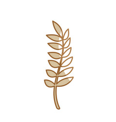 silhouette healthy wheat organ plant nutricious vector image