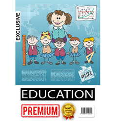 sketch primary school education poster vector image