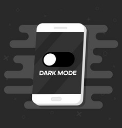 Smartphone with dark mode for phone screens icon vector