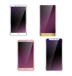 smartphones realistic set vector image