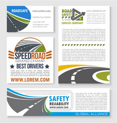 Speed road construction and service banners vector