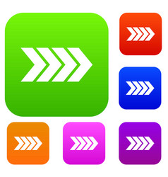 striped arrow set collection vector image