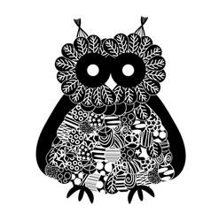 Stylized owl vector
