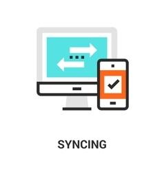 syncing icon concept vector image