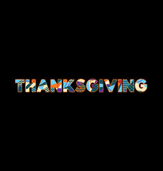 Thanksgiving concept word art vector