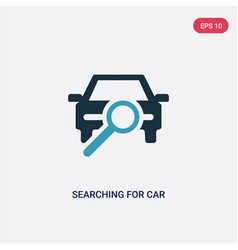 Two color searching for car icon from mechanicons vector