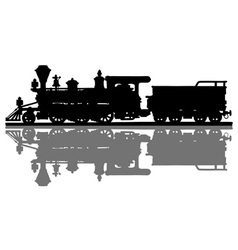 Vintage american steam locomotive vector