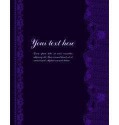 Violet vintage lacy border vector