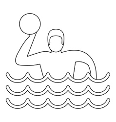 Water polo player icon simple style vector