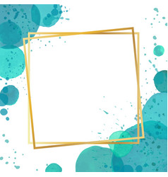 Watercolor splash effect border frame background vector