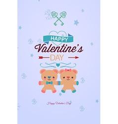 With bear heart arrow and vector