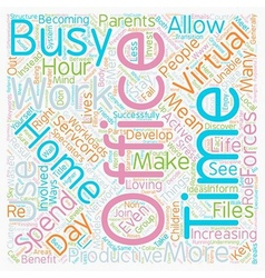 Work from home with a Virtual Office text vector image