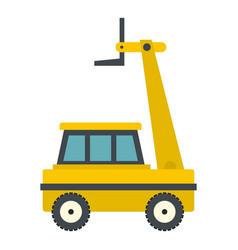 yellow cherry picker icon isolated vector image