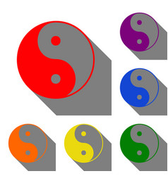ying yang symbol of harmony and balance set of vector image