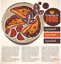 chicken food vector image vector image