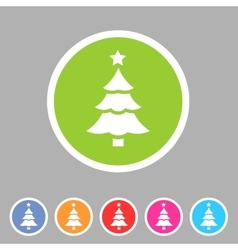 Christmas tree icon flat web sign symbol logo vector