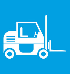 forklift icon white vector image