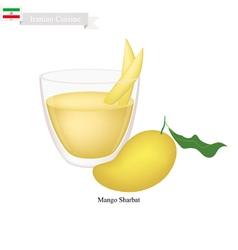 Mango Sharbat or Iranian Drink From Mango vector image