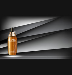 Oil essence hydrating concentrate bottle template vector