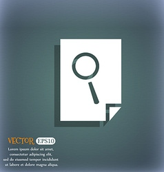 Search in file sign icon Find document symbol On vector image