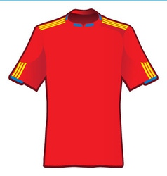 t-shirt of soccer of spain vector image vector image