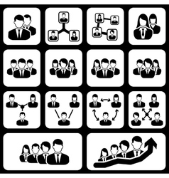 teamwork user icon vector image