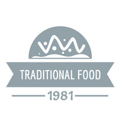 traditional food logo simple gray style vector image vector image