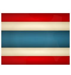 Vintage Thailand Flag vector image