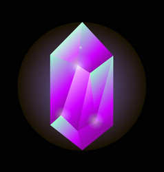 crystal gemstone or precious gem stone icon vector image