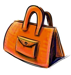 Hand bag isolated on white vector image vector image