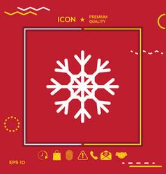 snowflake symbol icon vector image vector image