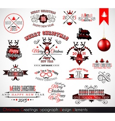 2015 Christmas decoration set of calligraphic vector image