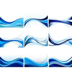 abstract blue background set vector image