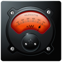 analog electrical realistic meter red vector image