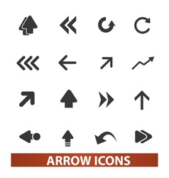 arrow icons signs set for web and mobile design vector image vector image