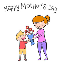 happy mother day character style vector image