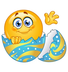 hatching easter egg emoticon vector image vector image