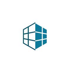 home square decoration logo vector image