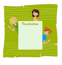 invitation frame vector image vector image
