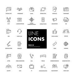 line icons set communication vector image