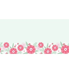 Peony flowers and leaves horizontal seamless vector image vector image